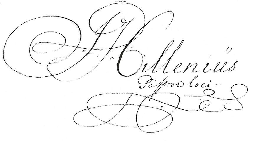 Handtekening Jesaias Hillenius
